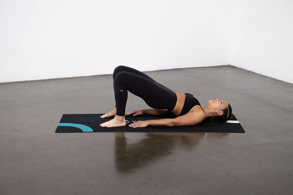 Bridge Pose On Elbows (Setu Bandha Sarvangasana) - Yoga Pose