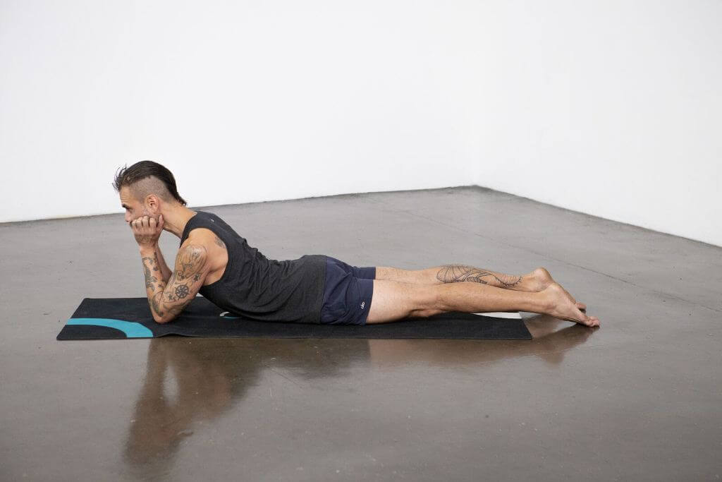 Crocodile Pose (Makarasana) - Yoga Pose