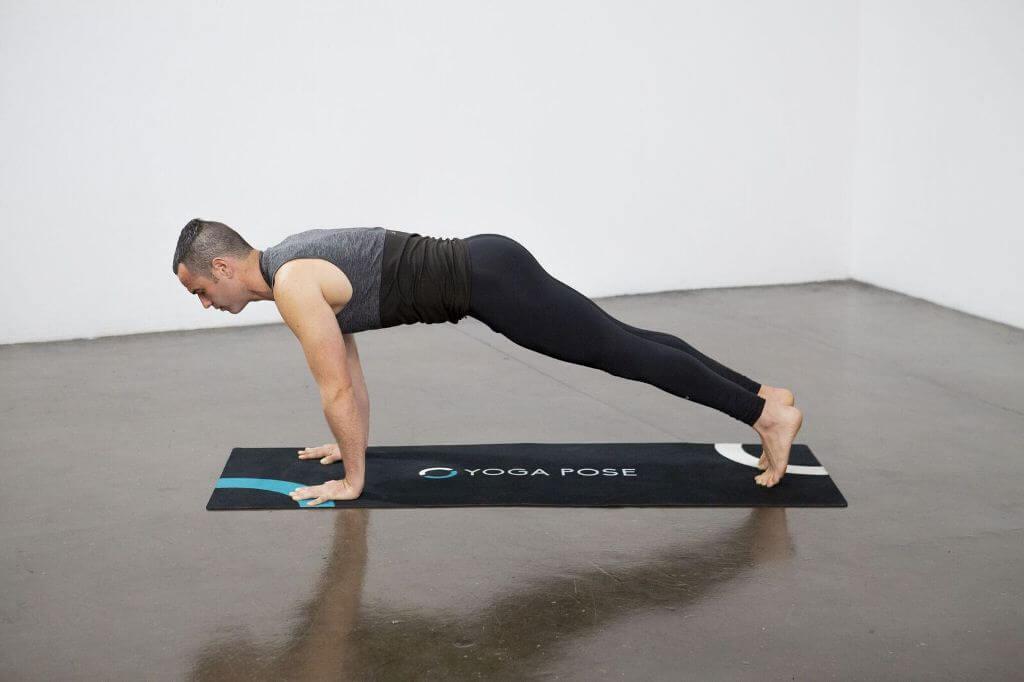 Four Limbed Staff Pose (Chaturanga Dandasana) - Yoga Pose