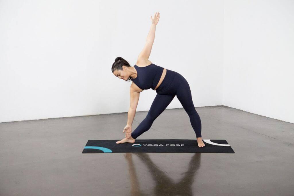Extended Triangle Pose (Trikonasana) - Yoga Pose