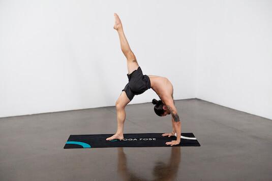 One-Legged Wheel Pose (Eka Pada Urdvha Dhanurasana) - Yoga Pose