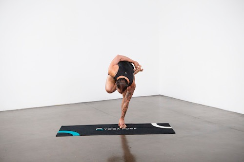 Half Bound Lotus Standing Pose (Ardha Baddha Padmottanasana) - Yoga Pose