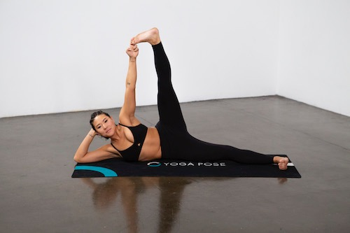 Side-Reclining Leg Lift (Anantasana) - Yoga Pose