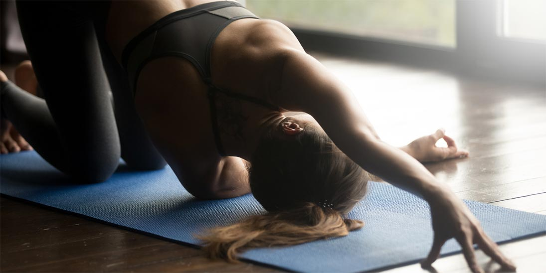 How Thread the Needle Pose Lowers Stress - Yoga Pose