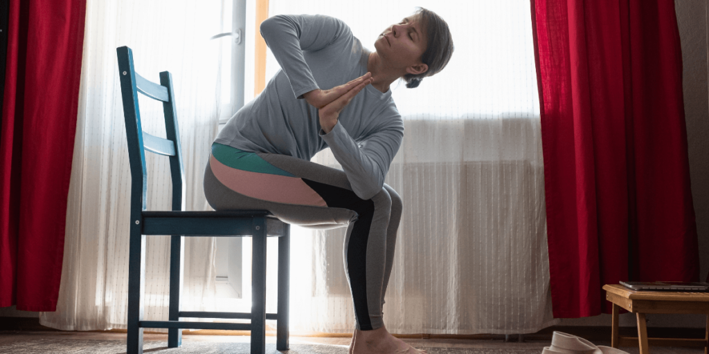 Chair Yoga can Reduce Stress and Pain