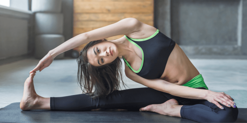 Improved Strength and Flexibility - Head to Knee Pose