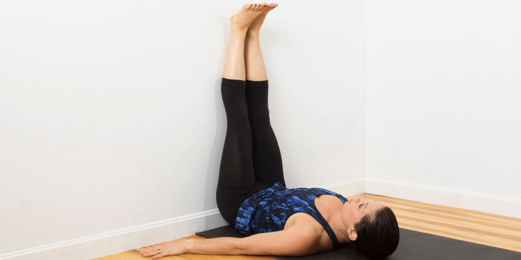Anti-Inflammation and Pain Relief - legs up to the wall pose