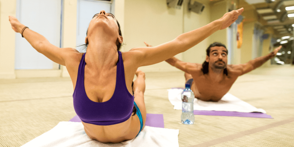 One of the key goals of hot yoga is for you to sweat a lot.
