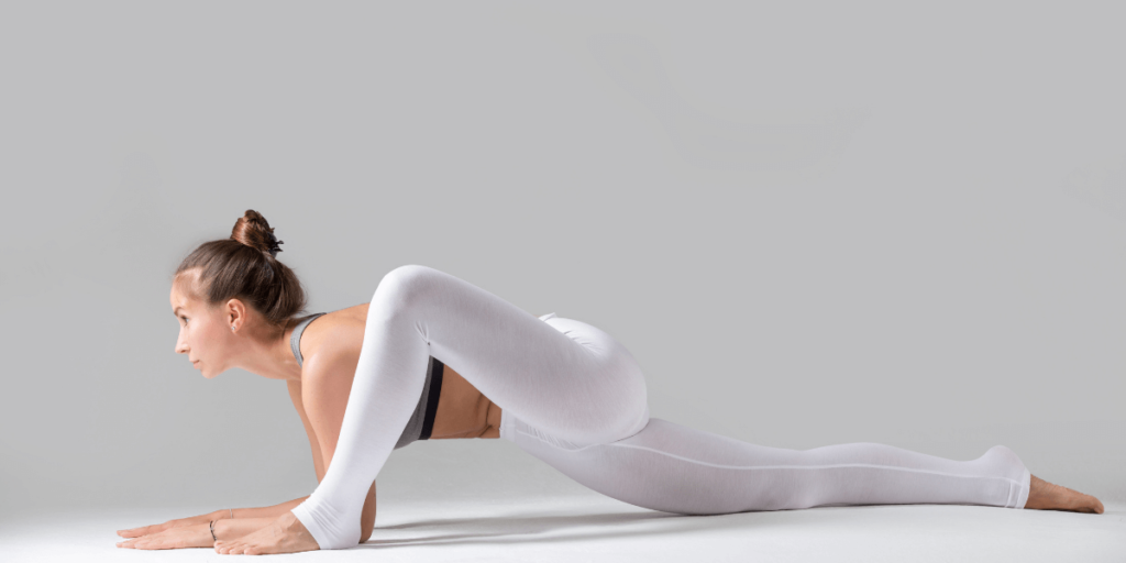 The lizard is an advanced yoga pose that opens your hip flexors, hamstrings, and hips.