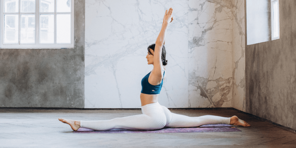 The monkey pose, also known as Hanumanasana, stretches your hip flexors, opens your hamstrings, and strengthens your groin muscles.